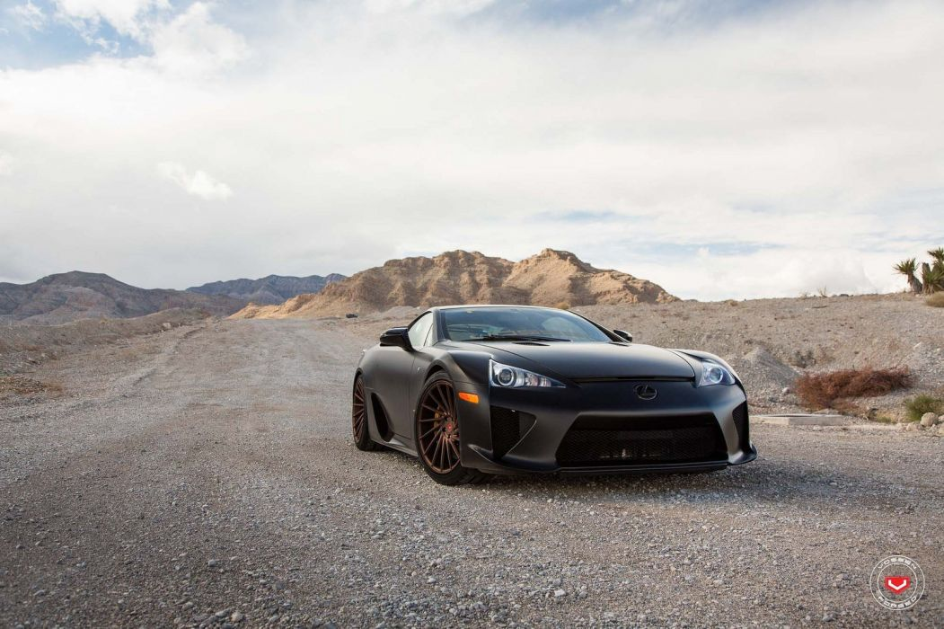 Vossen Wheels Lexus LFA cars black wallpaper