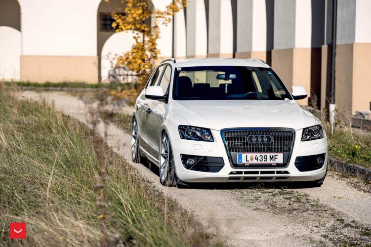 Vossen Wheels Audi Q5 cars suv white modified wallpaper