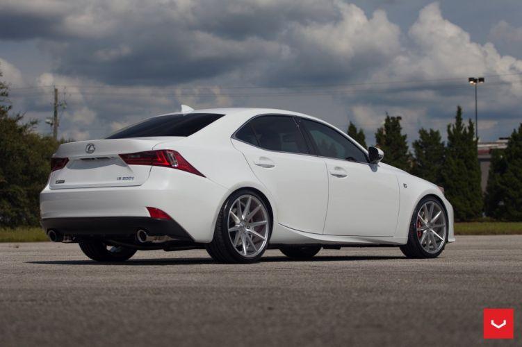 Vossen Wheels Lexus IS cars sedan white modified wallpaper