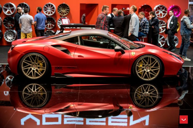 Vossen Wheels Ferrari 488 GTB cars COUPE modified red wallpaper