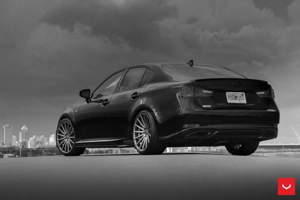 Vossen Wheels Lexus GS cars sedan modified black wallpaper