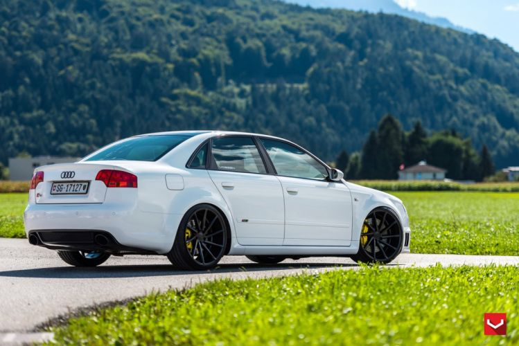 Vossen Wheels Audi RS4 cars sedan modified white wallpaper