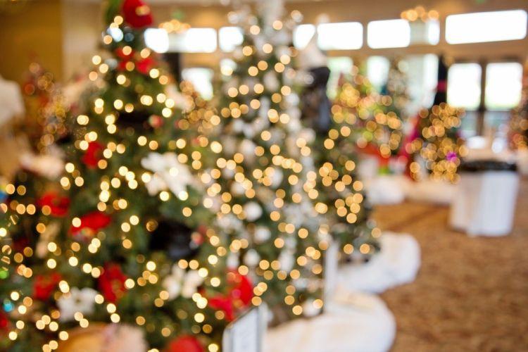 Christmas tree ornament light beauty wallpaper