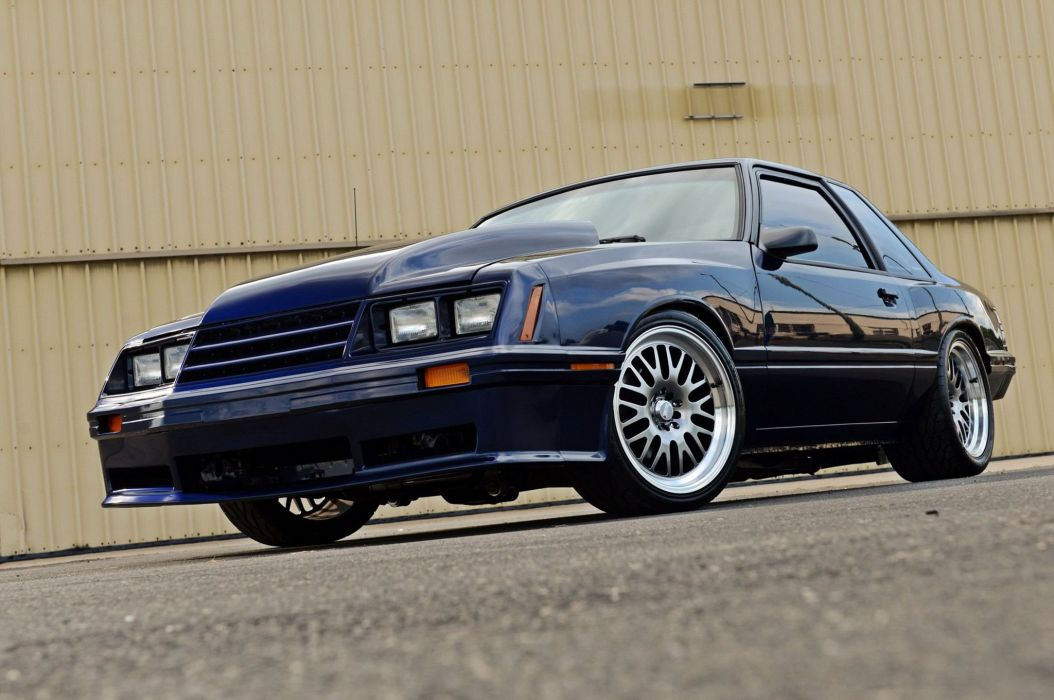 1987 Ford Mustang muscle hot rod rods custom wallpaper