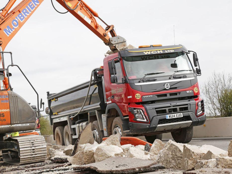 2014 Volvo FMX 8x4 UK-spec semi tractor dumptruck dump construction wallpaper