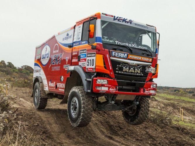 2015 MAN TGS 480 Rally Truck Dakar offroad race racing semi tractor wallpaper