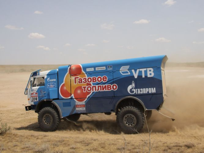 2013 Kamaz 4326-9 V-K Propane semi tractor dakar rally race racing wallpaper