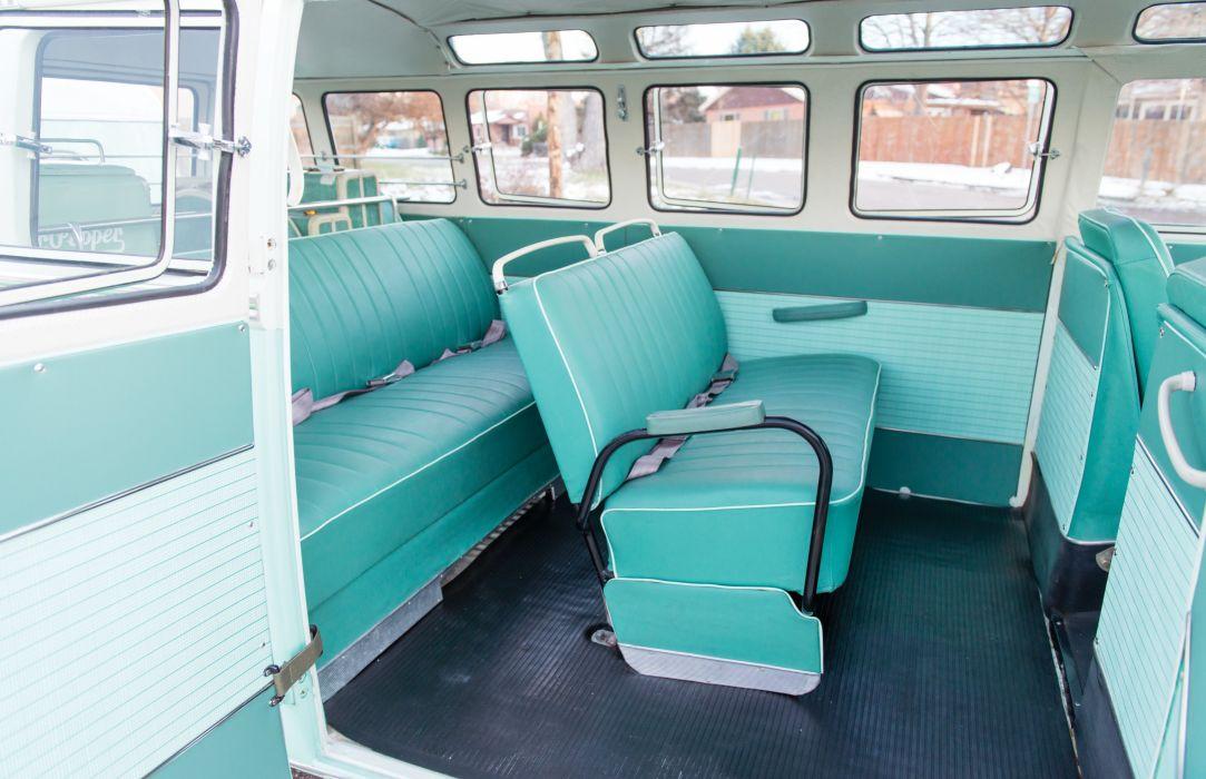 1963 Volkswagen Typ-2 Super Deluxe Microbus T-1 van camper motorhome classic wallpaper