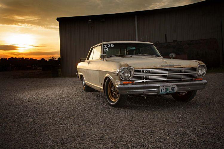 1962 Chevrolet Nova muscle classic drag race racing hot rod rods wallpaper