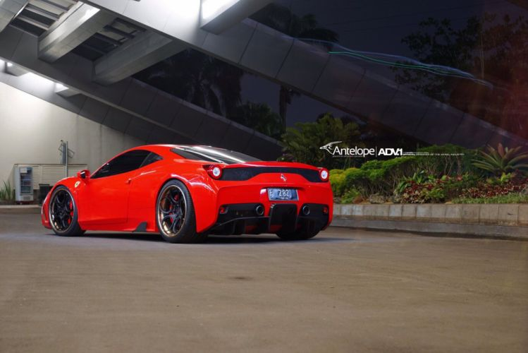 ADV 1 WHEELS FERRARI 458 SPECIALE cars red wallpaper