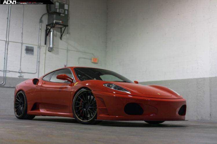 ADV 1 WHEELS FERRARI f430 cars red wallpaper