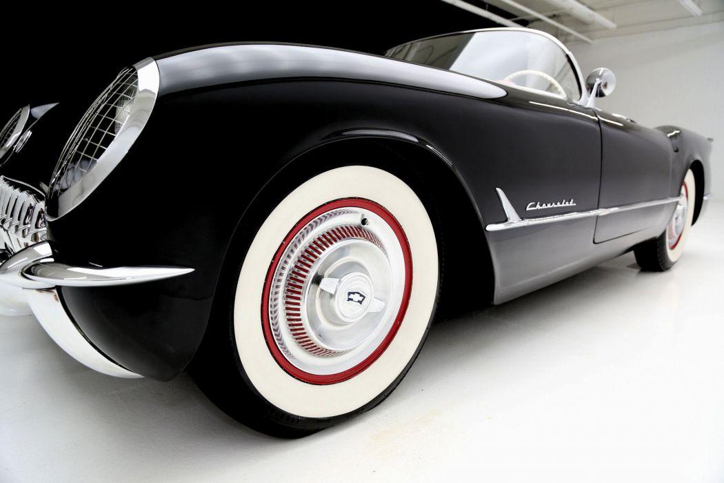 1954 CHEVROLET CORVETTE ROADSTER muscle retro supercar wallpaper