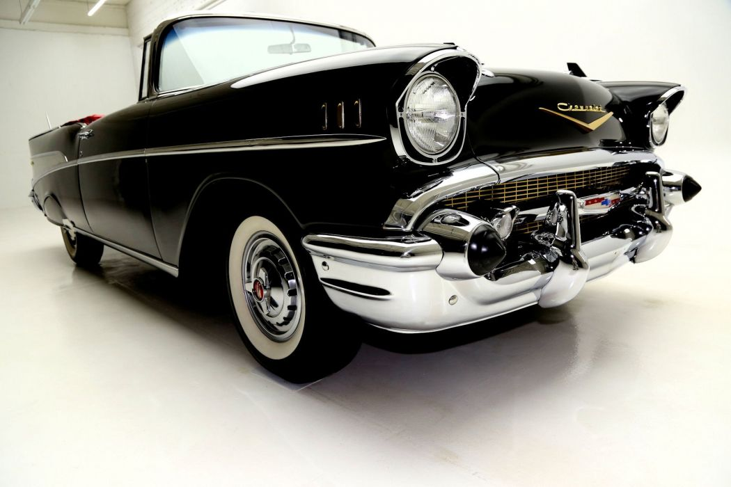 1957 CHEVROLET BEL AIR CONVERTIBLE retro wallpaper