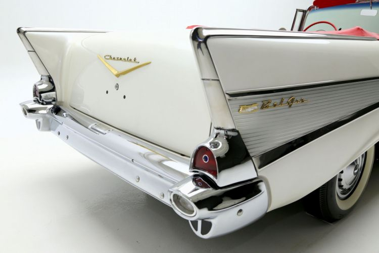 1957 CHEVROLET BEL AIR retro convertible wallpaper
