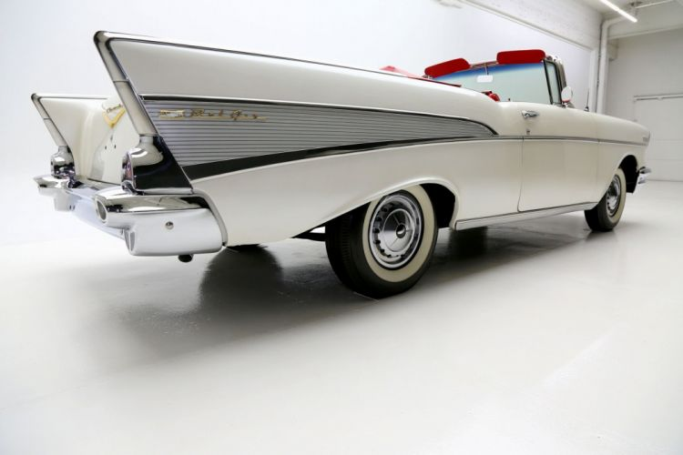 1957 CHEVROLET BEL AIR retro convertible wallpaper