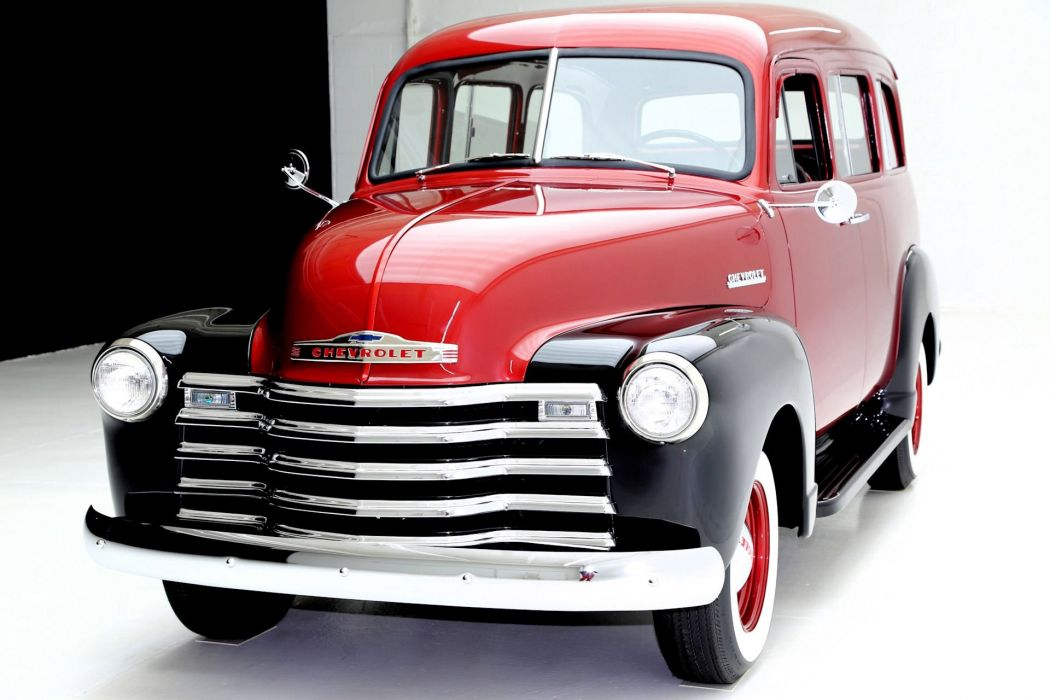 1951 CHEVROLET SUBURBAN 3100 BORDEAUX suv truck retro stationwagon wallpaper