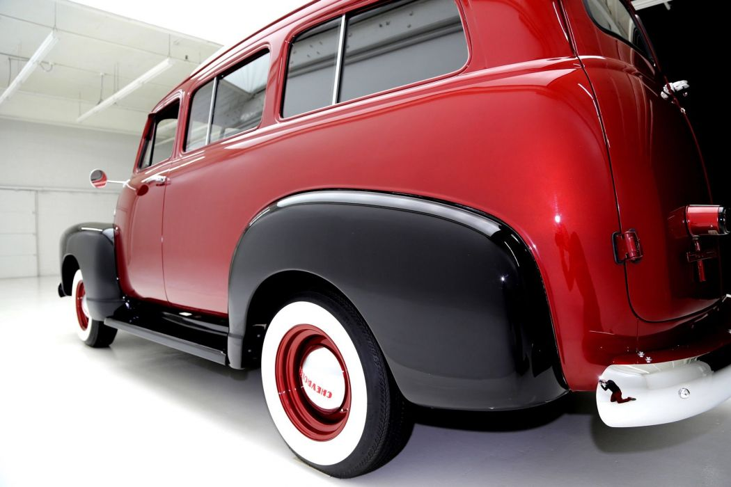 1951 CHEVROLET SUBURBAN 3100 BORDEAUX suv truck retro stationwagon wallpaper
