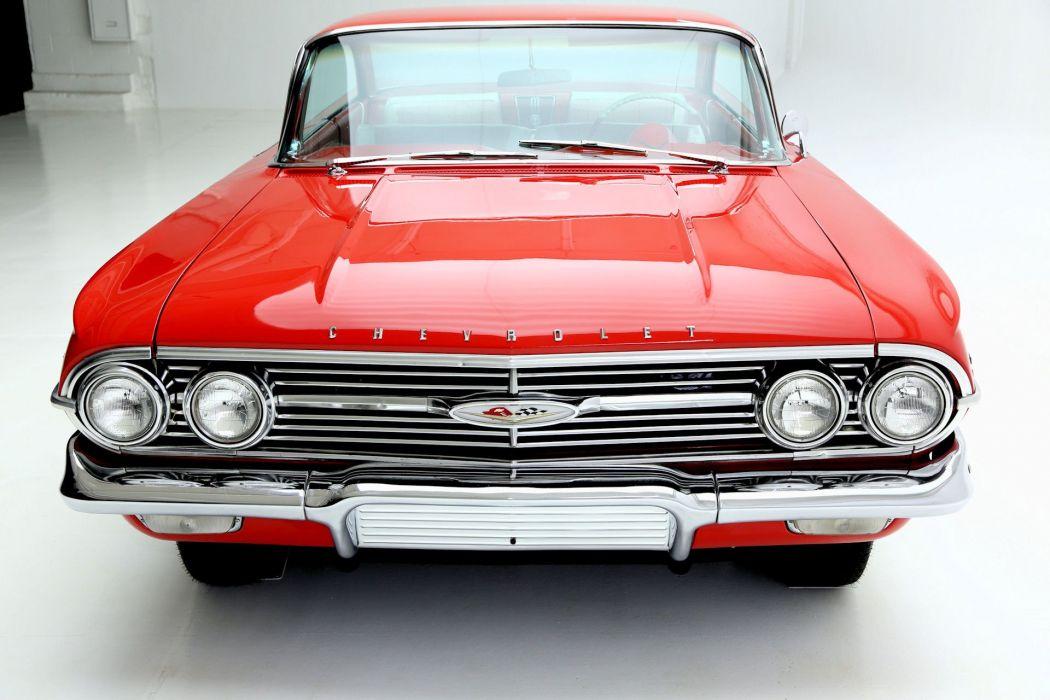 1960 CHEVROLET IMPALA RED 348 TRI-POWER wallpaper