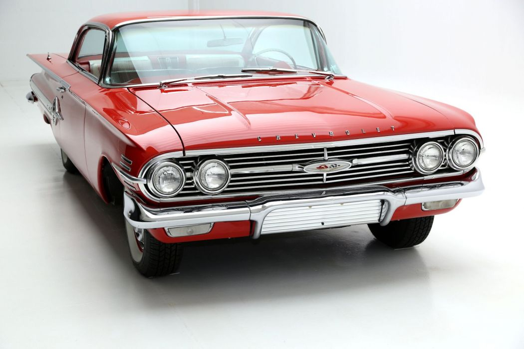 1960 CHEVROLET IMPALA RED 348 TRI-POWER wallpaper