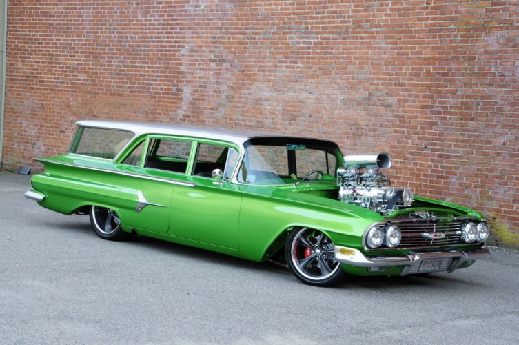 1960 Chevrolet Parkwood Wagon hot rod rods custom stationwagon classic wallpaper