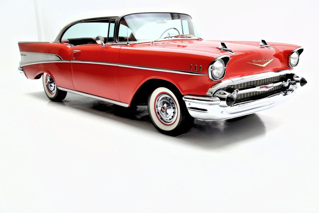 1957 CHEVROLET BEL AIR retro belair wallpaper