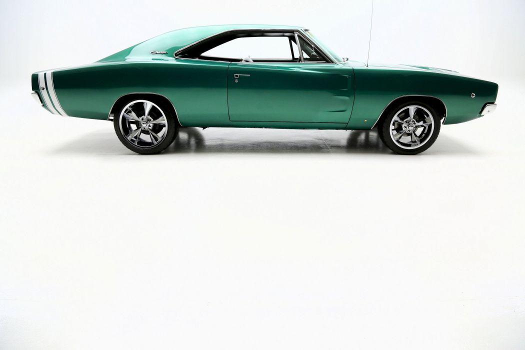 1968 DODGE CHARGER 440 mopar hot rod rods muscle classic custom wallpaper