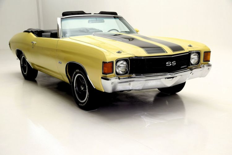 1972 CHEVROLET CHEVELLE S-S CONVERTIBLE muscle classic wallpaper