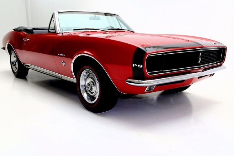1967 CHEVROLET CAMARO CONVERTIBLE R-S muscle classic wallpaper