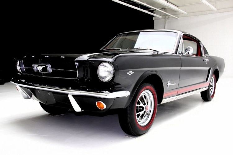 1965 FORD MUSTANG FASTBACK A-CODE muscle classic wallpaper