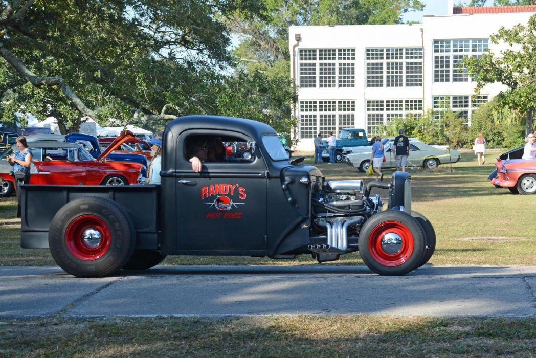 HOT ROD rods custom retro vintage pickup wallpaper