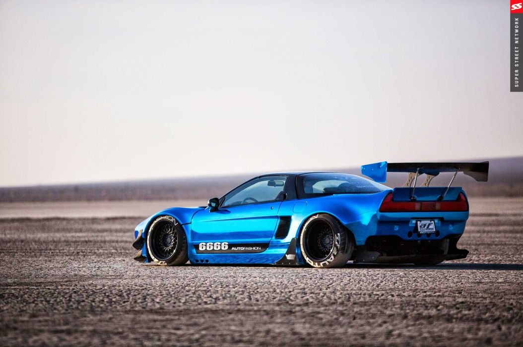 1992 acura nsx rocket bunny cars coupe modified blue wallpaper