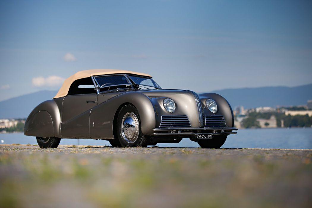 1939 Alfa Romeo 6-C 2500 S-S Cabriolet Sport Pinin Farina Pininfarina retro vintage supercar wallpaper