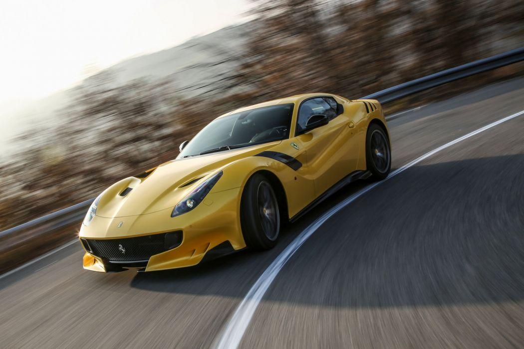 2016 cars Coupe F12tdf Ferrari yellow wallpaper