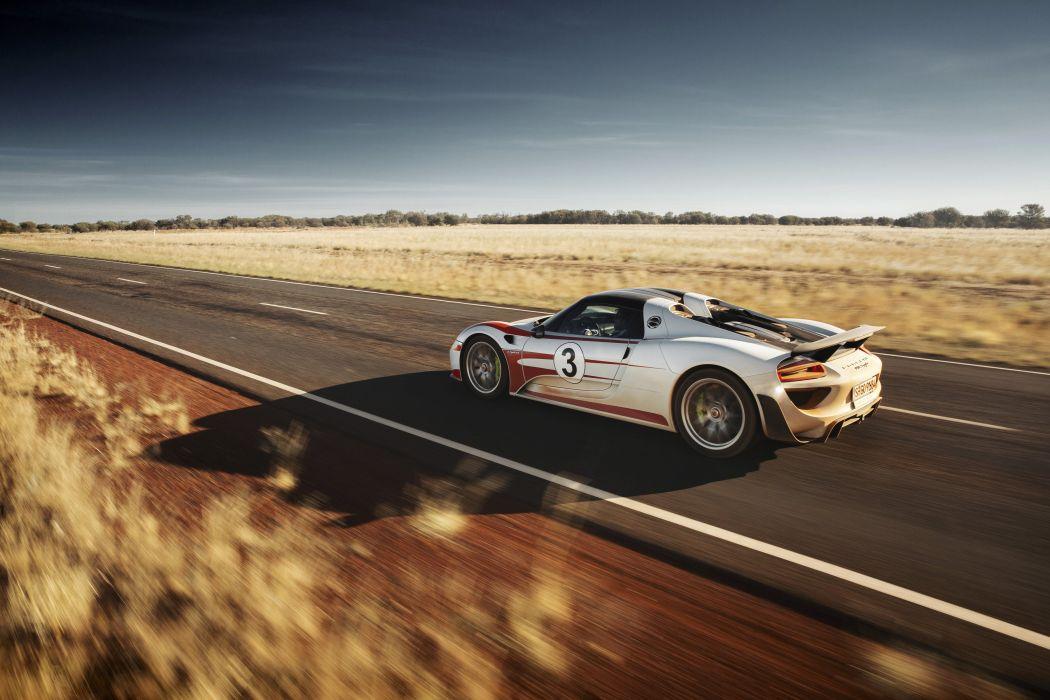2015 Porsche 918 Spyder Weissach Package supercar race racing wallpaper