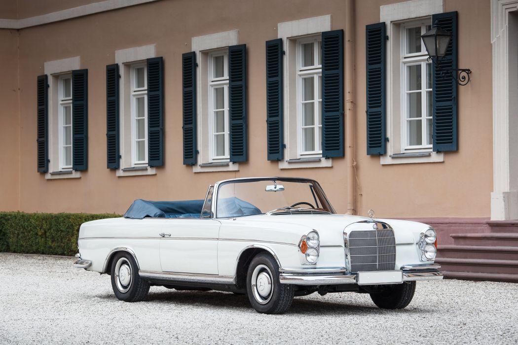 1965 Mercedes Benz 300SE Cabriolet W112 300 convertible luxury classic wallpaper