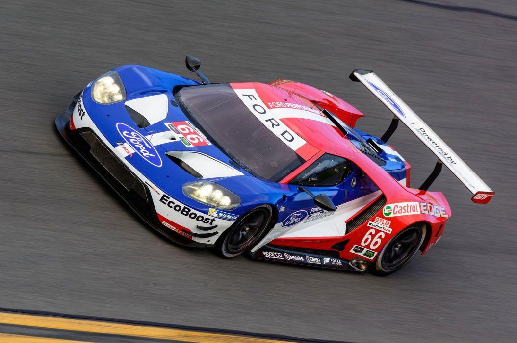 2016 IMSA Ford G-T le-mans race racing lemans supercar rally wallpaper
