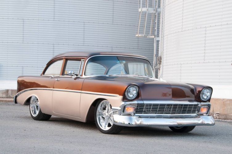 1956 Chevrolet hot rod rods custom retro wallpaper
