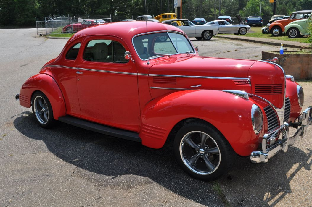 1939 DODGE BUSINESS COUPE custom hot rod rods retro vintage wallpaper