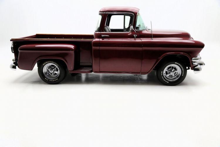 1956 GMC 100 PICKUP 383 custom truck hot rod rods retro wallpaper
