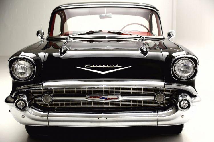 1957 CHEVROLET BEL AIR 283ci retro muscle belair wallpaper