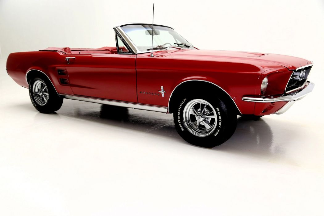 1967 FORD MUSTANG CONVERTIBLE 289ci muscle classic wallpaper