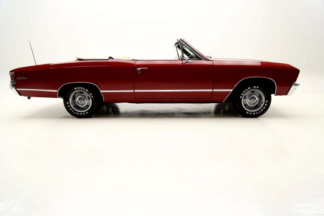 1967 CHEVROLET CHEVELLE CONVERTIBLE 283ci muscle classic wallpaper
