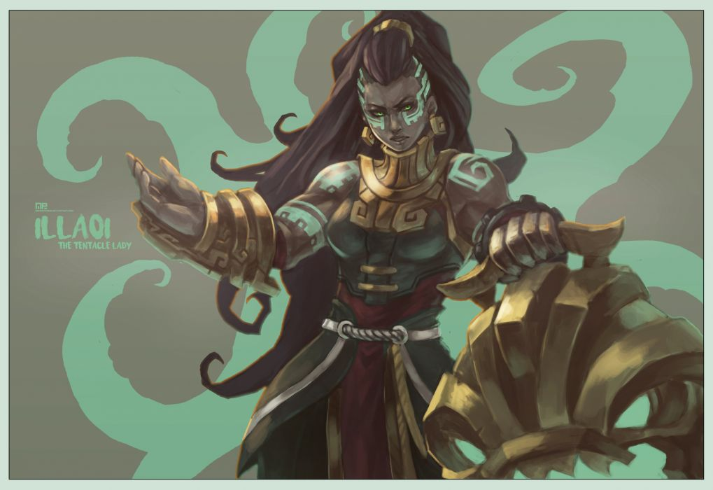 Illaoi - The Tentacle Lady by MonoriRogue wallpaper