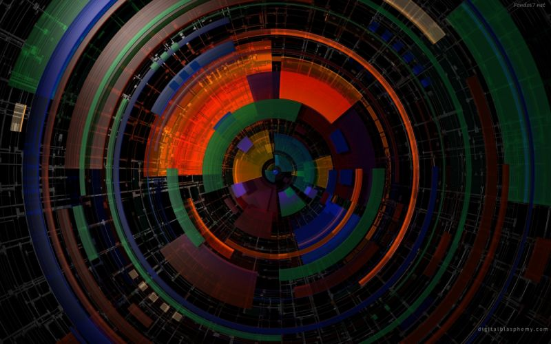 abstracto redondo digital wallpaper