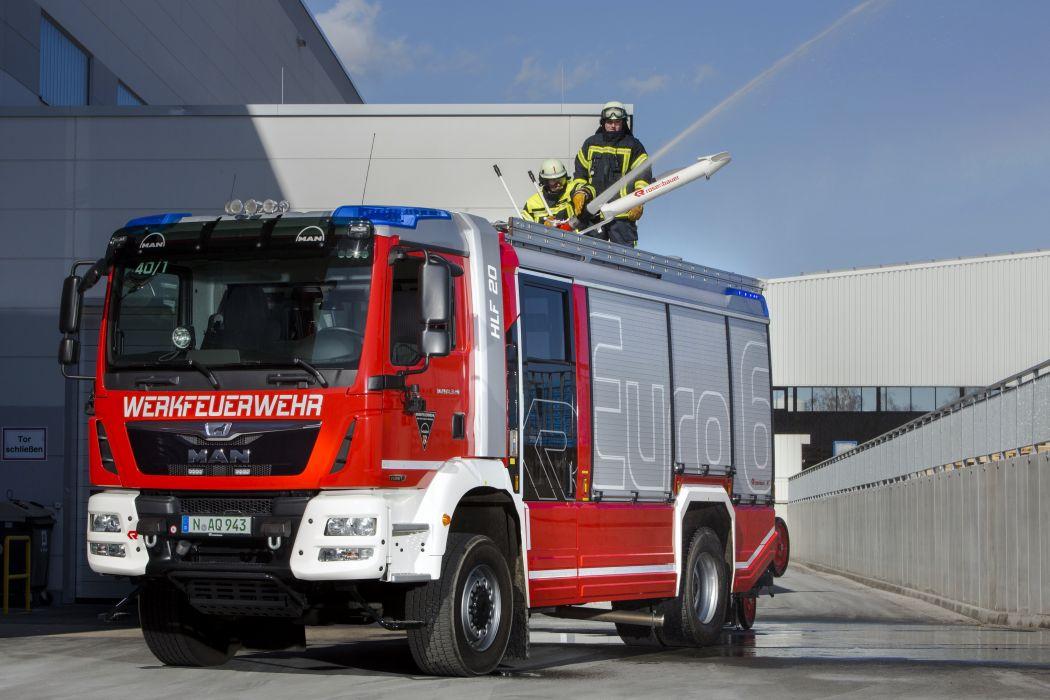2014 MAN TGM 18-340 4x4 BB Rosenbauer HLF firetruck emergency semi tractor wallpaper