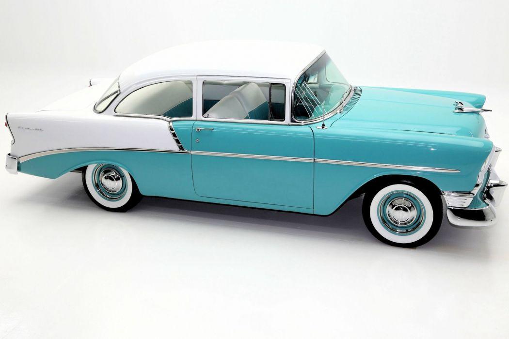 1956 CHEVROLET 210 265ci retro wallpaper