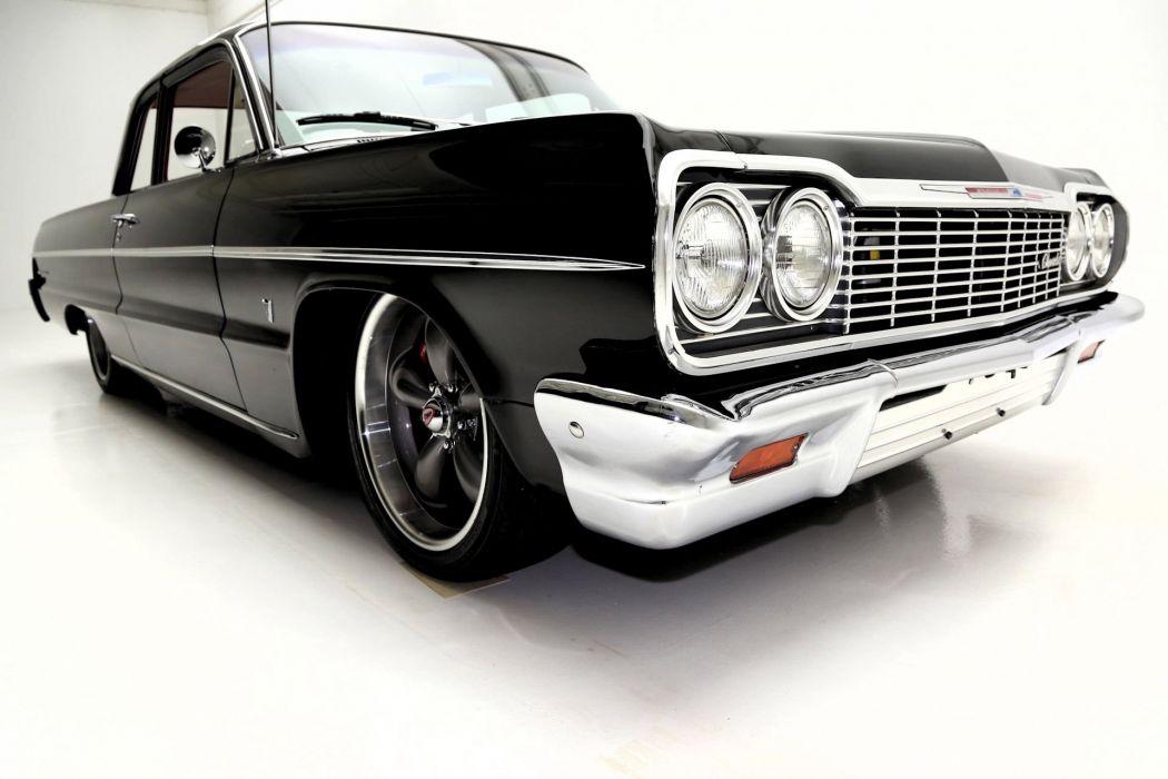 1964 CHEVROLET BEL AIR 283ci custom hot rod rods muscle classic belair wallpaper