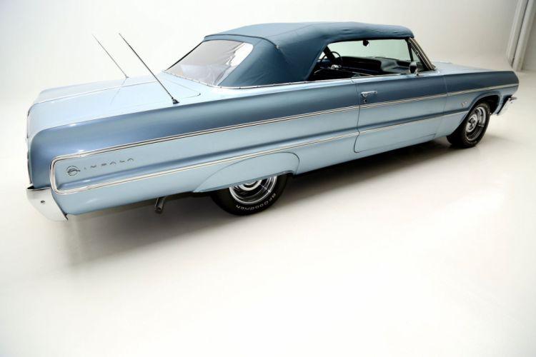 1964 CHEVROLET IMPALA CONVERTIBLE 327ci muscle classic wallpaper