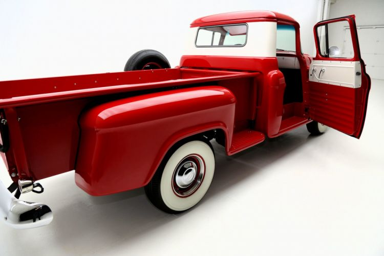1957 CHEVROLET PICKUP 3100 STEP SIDE 350ci retro truck wallpaper