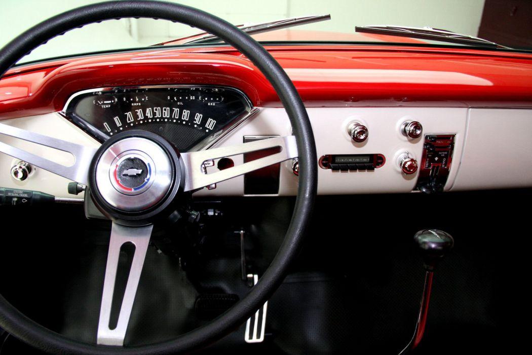 1957 CHEVROLET PICKUP 3100 STEP SIDE 350ci retro truck wallpaper